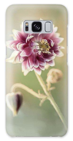 Blooming Columbine Flower Galaxy Case
