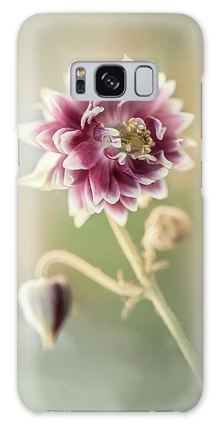 Blooming Columbine Flower Galaxy Case