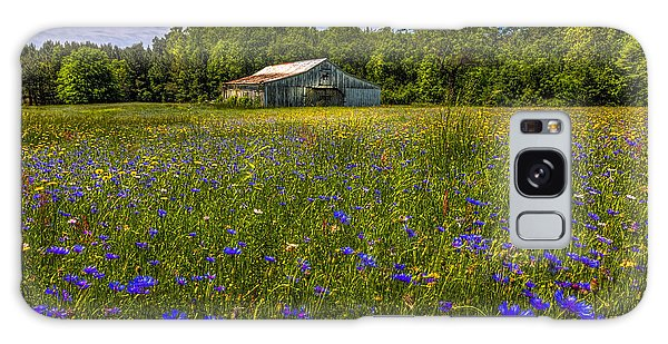 Blooming Country Meadow Galaxy Case by Marvin Spates