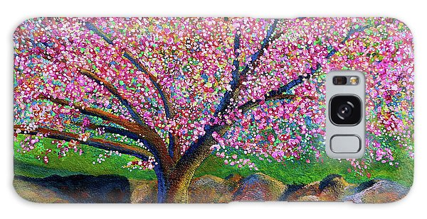 Blooming Crabapple In Evening Light Galaxy Case