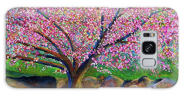 Blooming Crabapple In Evening Light Galaxy Case by Polly Castor