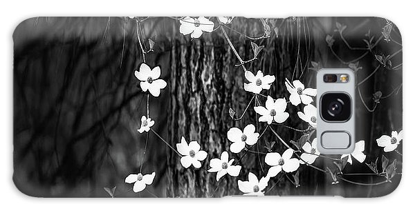 National Park Galaxy Case - Blooming Dogwoods In Yosemite Black And White by Larry Marshall