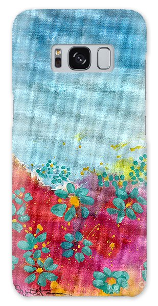 Blooms Galaxy Case by Shelley Overton