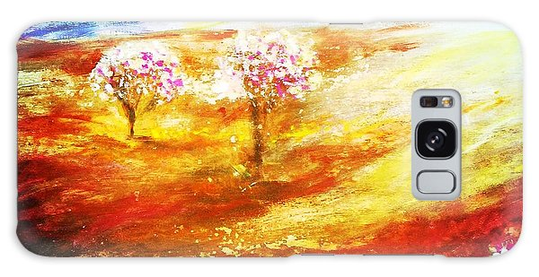 Galaxy Case featuring the painting Blossom Dawn by Winsome Gunning