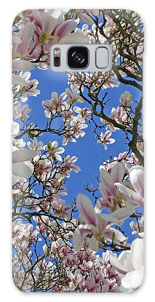 Blossom Magnolia White Spring Flowers Photography Galaxy Case by Artecco Fine Art Photography