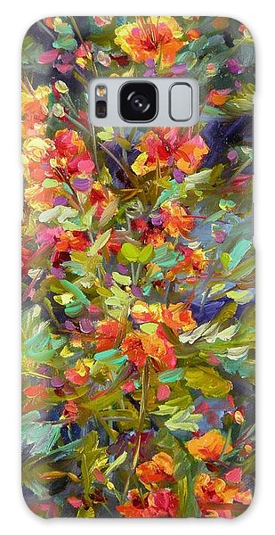 Blossoms Of Hope Galaxy Case by Chris Brandley