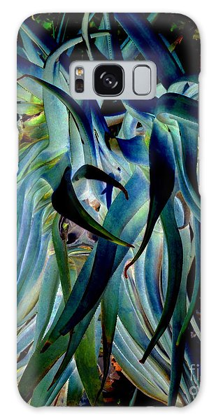Blue Abstract Art Lorx Galaxy Case by Rebecca Margraf