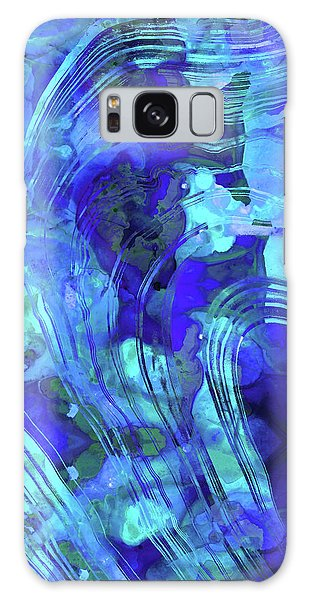 Blue Abstract Art - Reflections - Sharon Cummings Galaxy Case by Sharon Cummings