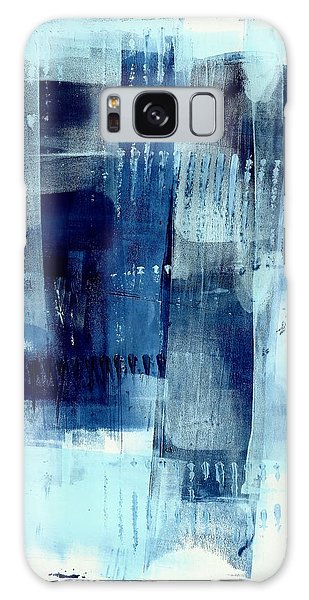 Blue Abstract I Galaxy Case by Lisa Noneman