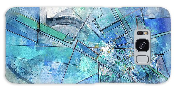 Galaxy Case featuring the painting Blue Abstract  by Robert Anderson