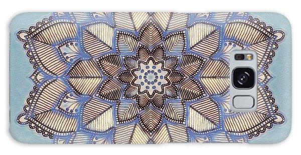 Blue And White Mandala Galaxy Case