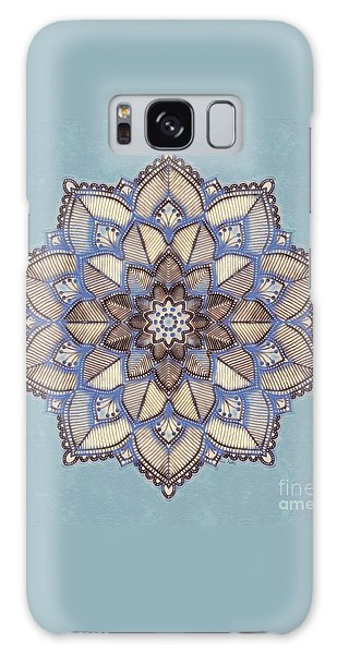Blue And White Mandala Galaxy Case