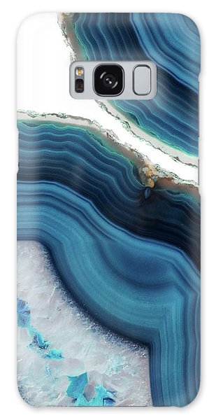 Stone Galaxy Case - Blue Agate by Emanuela Carratoni