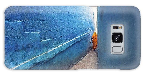 Blue Alleyway Galaxy Case