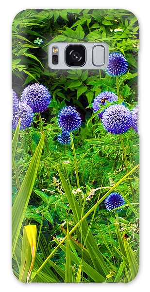 Blue Allium Flowers Galaxy Case