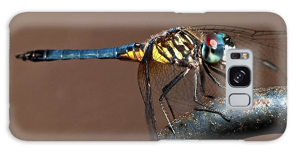 Blue And Gold Dragonfly Galaxy Case
