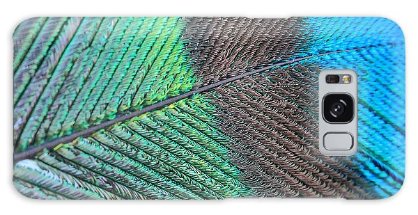 Blue And Green Feathers Galaxy Case