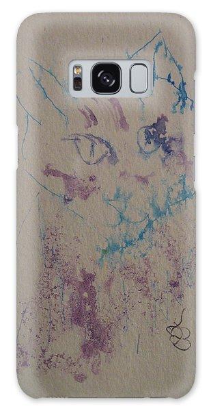 Blue And Purple Cat Galaxy Case