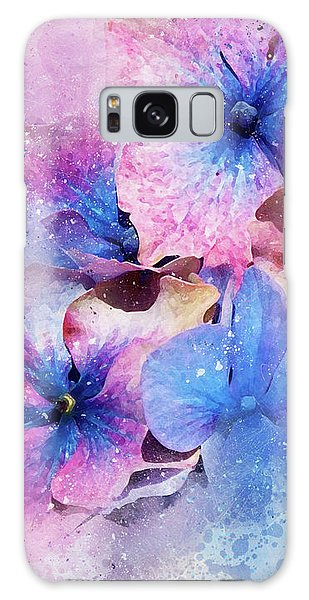 Blue And Purple Flowers Galaxy Case