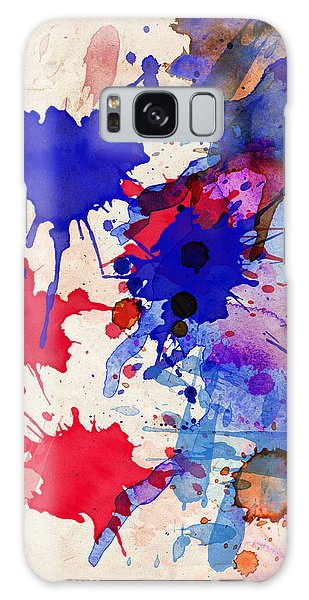 Blue And Red Color Splash Galaxy Case