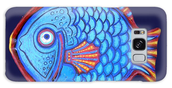 Blue And Red Fish Galaxy Case