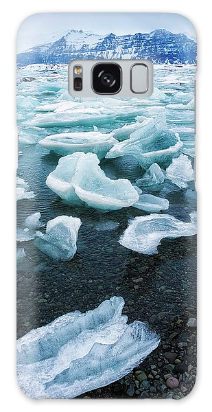 Blue And Turquoise Ice Jokulsarlon Glacier Lagoon Iceland Galaxy Case by Matthias Hauser
