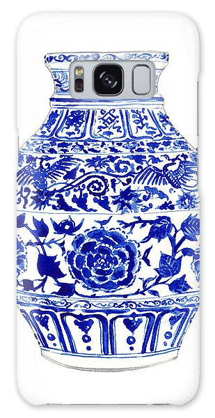 Phoenix Galaxy Case - Blue And White Ginger Jar Chinoiserie 4 by Laura Row