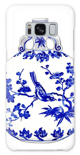 Bluebird Galaxy Case - Blue And White Ginger Jar Chinoiserie 6 by Laura Row