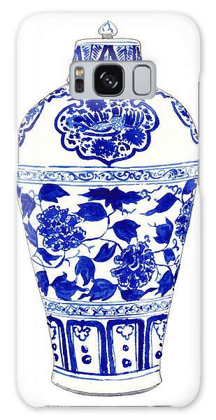 Phoenix Galaxy Case - Blue And White Ginger Jar Chinoiserie Jar 1 by Laura Row