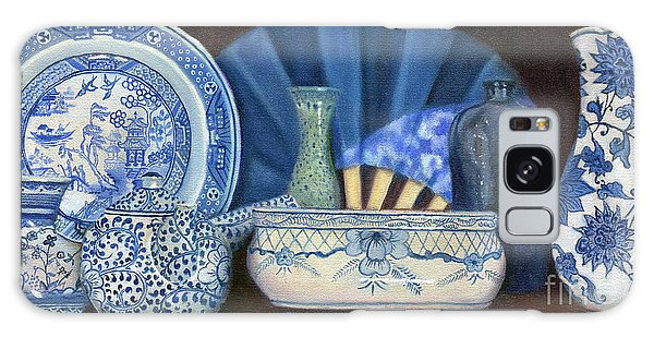 Blue And White Porcelain Ware Galaxy Case by Marlene Book