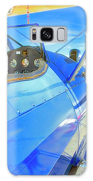 Blue And Yellow Bi Wing  Galaxy Case