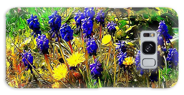Blue And Yellow Wild Flower Medley Galaxy Case