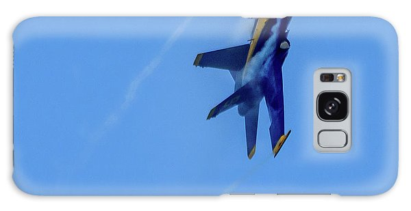 Galaxy Case featuring the photograph Blue Angel 5 Contrails by Randy Scherkenbach