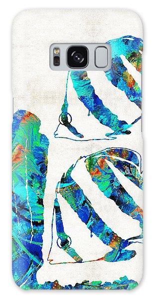 Bradenton Galaxy Case - Blue Angels Fish Art By Sharon Cummings by Sharon Cummings