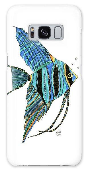 Blue Anglefish Galaxy Case