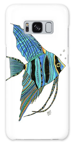 Blue Anglefish Galaxy Case