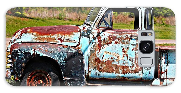 Blue Antique Chevy Truck- Fine Art Galaxy Case
