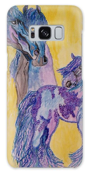 Blue Beauties Galaxy Case by Connie Valasco