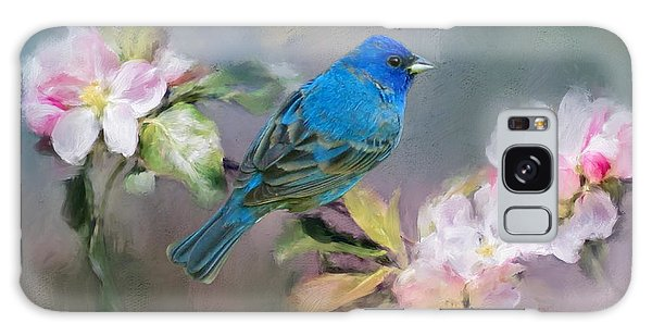 Blue Beauty In The Flowers Galaxy Case