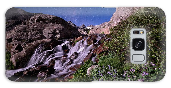 Indian Peaks Wilderness Galaxy Case - Blue Bell Falls by Mike Berenson
