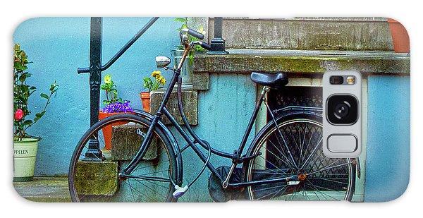 Blue Bike Galaxy Case by Jill Smith