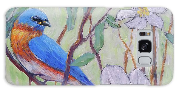 Blue Bird And Blossoms Galaxy Case