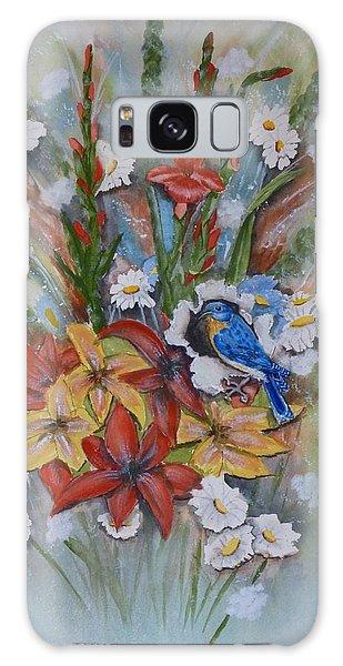 Blue Bird Eats Thru The Painting Galaxy Case