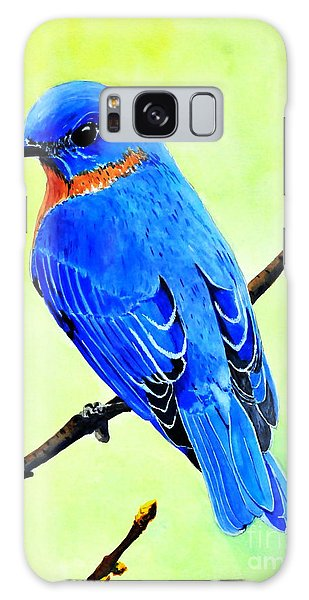 Blue Bird King Galaxy Case