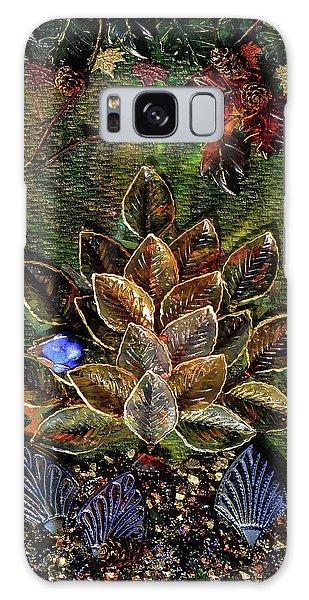 Blue Bird Singing In An Autumn Tree Galaxy Case by Donna Blackhall