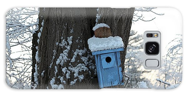 Blue Birdhouse Galaxy Case