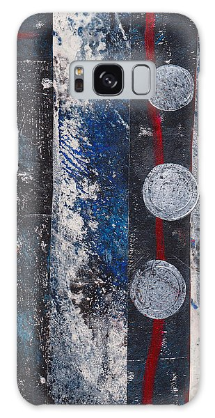 Blue Black Collage Galaxy Case
