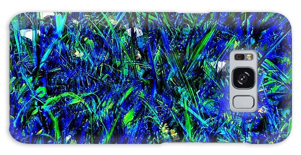 Blue Blades Of Grass Galaxy Case