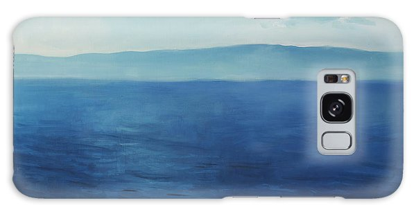 Blue Blue Sky Over The Sea  Galaxy Case