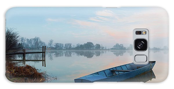 Galaxy Case featuring the photograph Blue Boat by Davor Zerjav